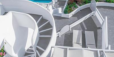 Zugang zum Hotel - Santorini Secret Suites & Spa