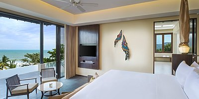 Vana Belle, A Luxury Collection Resort - Ocean View Pool Suite Schlafzimmer