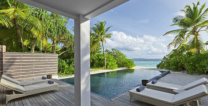 2 BR Beach Residence mit Pool - Dusit Thani Maldives