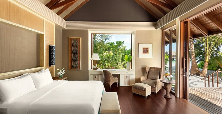 2 BR Family Beach Villa Private Pool King Schlafzimmer- Shangri-La`s Villingili Resort and Spa
