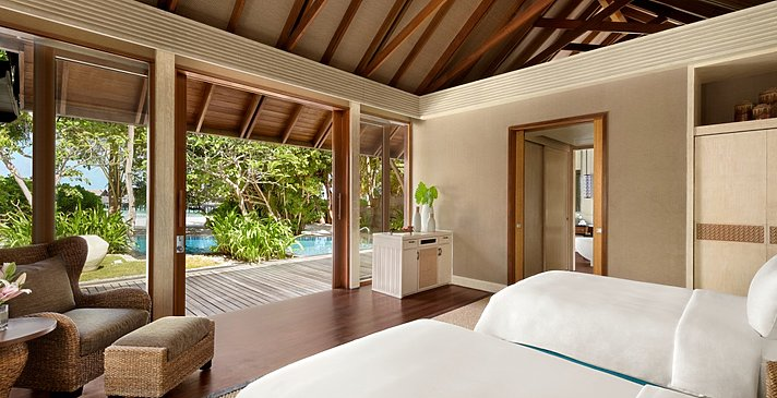 2 BR Family Beach Villa Private Pool Twin Schlafzimmer - Shangri-La`s Villingili Resort and Spa
