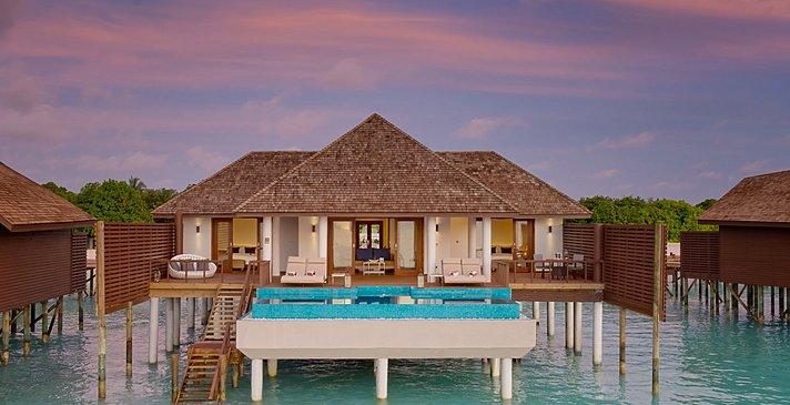 Two Bedroom Ocean Villa mit Pool - Hideaway Beach Resort & Spa