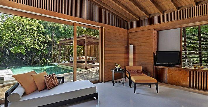 2 Bedroom Park Pool Villa Master Schlafzimmer - Park Hyatt Maldives Hadahaa