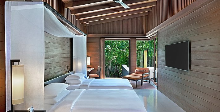 2 Bedroom Park Pool Villa zweites Schlafzimmer - Park Hyatt Maldives Hadahaa