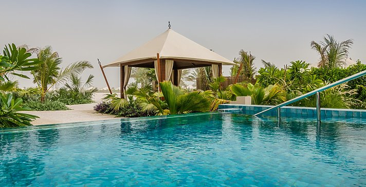 Al Bahar Tented Beach Pool Villa - Al Hamra Beach