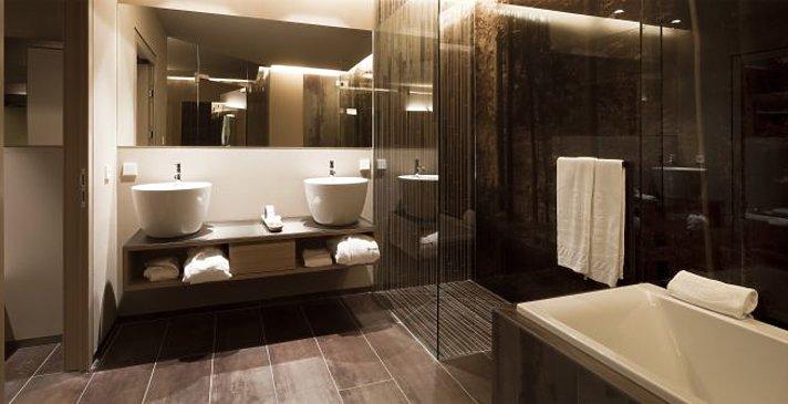 Alpina Dolomites - Superior Zimmer - Badezimmer