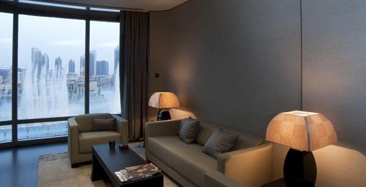 Wohnzimmer Armani Première Suite - Armani Hotel Dubai