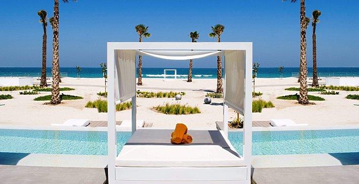 Ausblick einer One Bedroom Beach Villa - Nikki Beach Resort & Spa Dubai