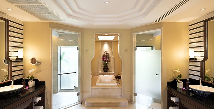 Beachfront Layan Pool Villa Badezimmer - Anantara Layan Phuket Resort