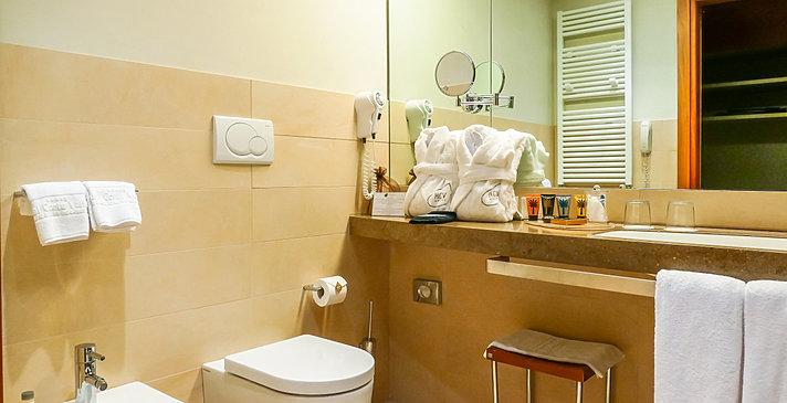 Badezimmer - Hotel Corte Valier