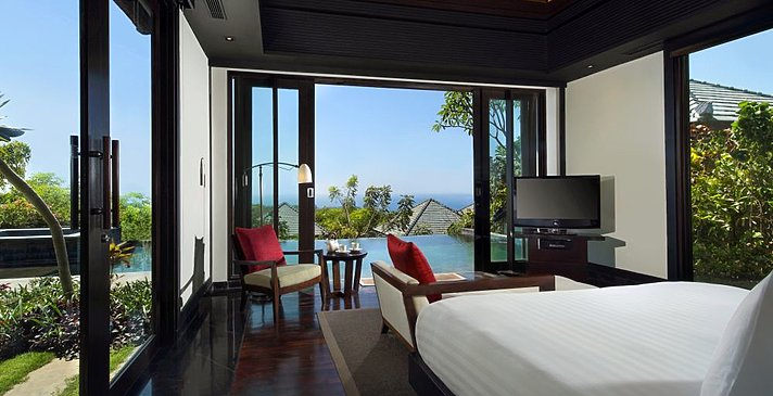 Banyan Tree Ungasan - Pool Villa Sea View Schlafzimmer