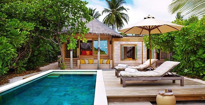 Beach Family Villa mit Pool - Six Senses Laamu