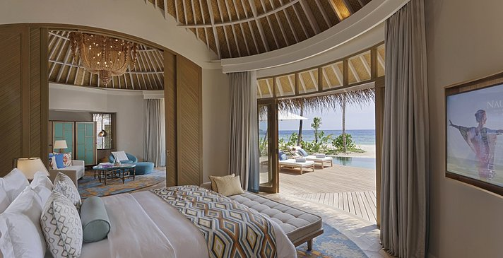 Beach House Schlafzimmer - The Nautilus Maldives