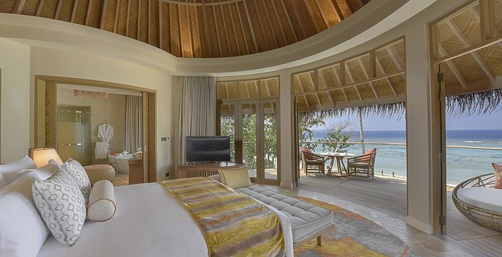 Beach Residence Schlafzimmer - The Nautilus Maldives