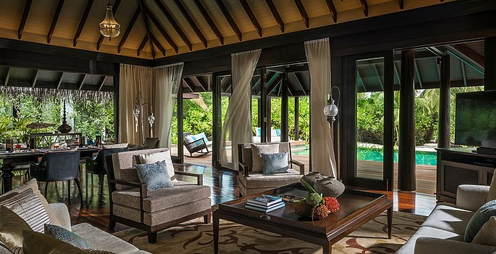 Beach Residence Wohnzimmer - Anantara Kihavah Villas
