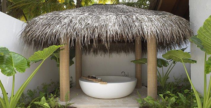 Beach Sunrise / Sunset Villa Badezimmer - Fairmont Maldives Sirru Fen Fushi