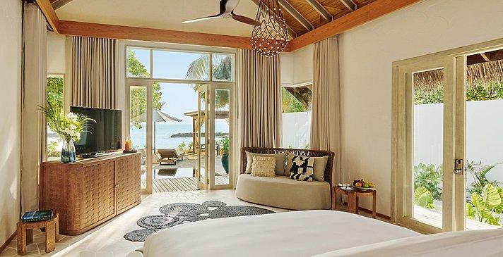 Beach Sunrise / Sunset Villa Schlafzimmer - Fairmont Maldives Sirru Fen Fushi