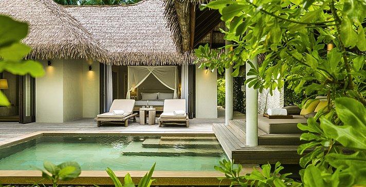 Beach Villa Pool - COMO Maalifushi