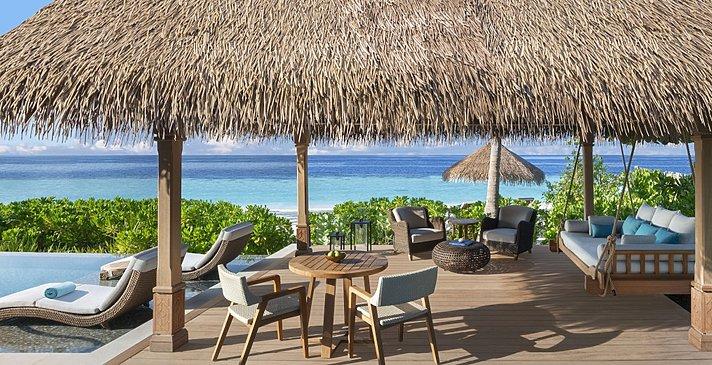Beach Villa mit Pool Pavilion - Waldorf Astoria Maldives Ithaafushi
