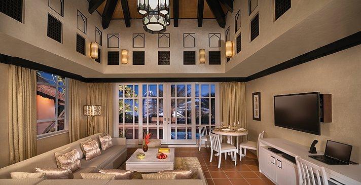 Wohnzimmer der One Bedroom Villa - Beit Al Bahar Villas