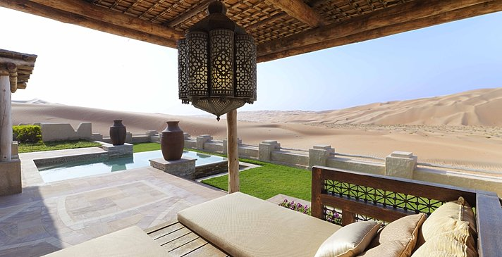 Blick aus der Cabana der Villa - Royal Pavilion Villas by Qasr Al Sarab