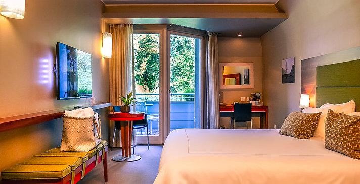Confort Zimmer seitlicher Seeblick - Hotel Corte Valier