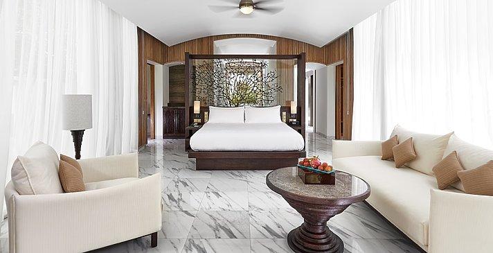 Deluxe Beach Villa Schlafzimmer - Conrad Maldives Rangali Island