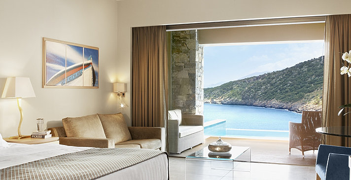 Deluxe Room Sea View mit Pool - Daios Cove Luxury Resort & Villas