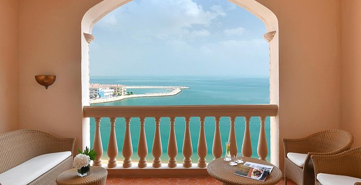 Deluxe Sea View Balkon - Marsa Malaz Kempinski, The Pearl