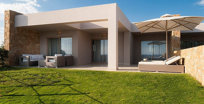 Deluxe Two Bedroom Bungalow Suite Private Garden - Ikos Olivia