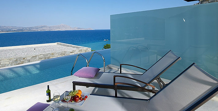 Double Sharing Pool - Lindos Blu Luxury Hotel & Suites