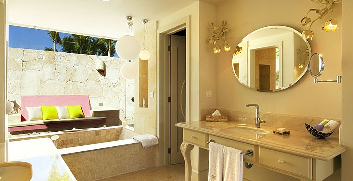 Luxury Pool Junior Suite - Badezimmer - Eden Roc at Cap Cana