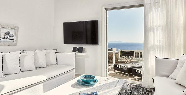 Exclusive Guestroom Sea View - Myconian Villa Collection