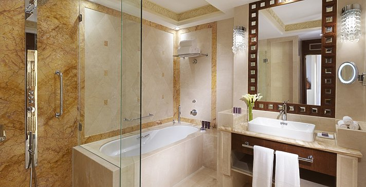 Executive Suite Badezimmer - Al Bustan Palace, A Ritz-Carlton Hotel