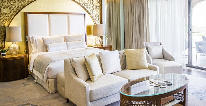 Schlafzimmer (Panoramic) Ocean Suite - Jumeirah Royal Saray, Bahrain