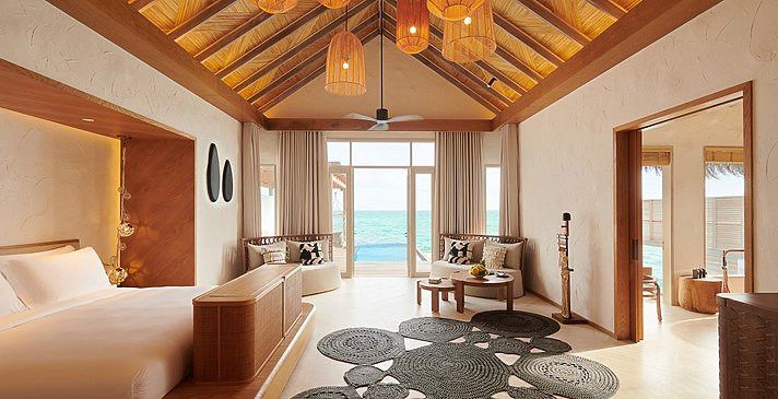 Grand Water Sunset Villa Schlafzimmer - Fairmont Maldives Sirru Fen Fushi