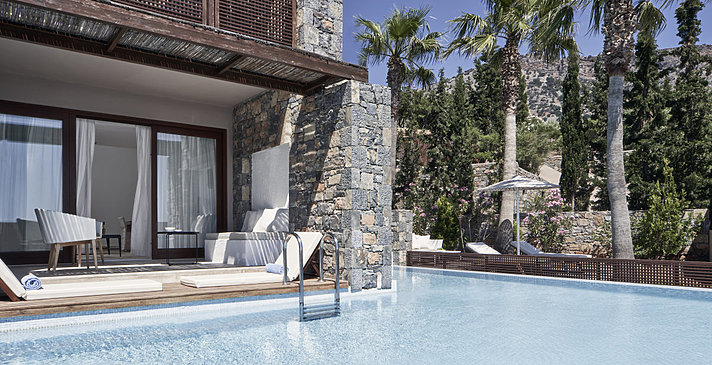 Junior Suite Private Heated Pool - Blue Palace, A Luxury Collection Resort & Spa