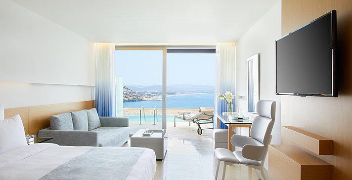 Junior Suite Sharing Pool - Lindos Blu Luxury Hotel & Suites