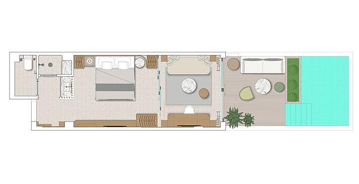 Evergreen Junior Suite with Individual Pool - Numo Ierapetra Beach Resort