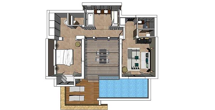 Ocean 1 BR Pool Villa mit Garten- Eagles Villas