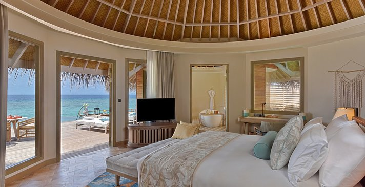 Ocean House Schlafzimmer - The Nautilus Maldives