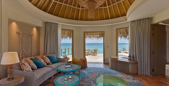 Ocean House Wohnzimmer - The Nautilus Maldives