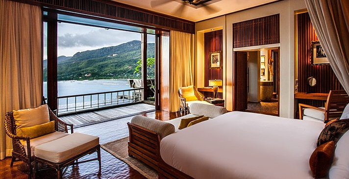Ocean View Pool Villa Schlafzimmer - Anantara Maia Seychelles Villas