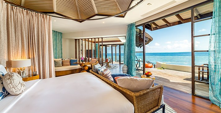 Ocean Pool Suite Schlafzimmer - Ozen Reserve Bolifushi