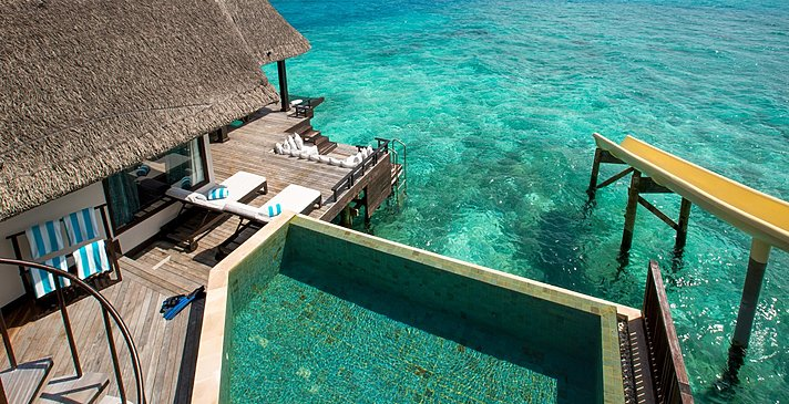 Ocean Pool Suite with Slide Pooldeck - Ozen Reserve Bolifushi