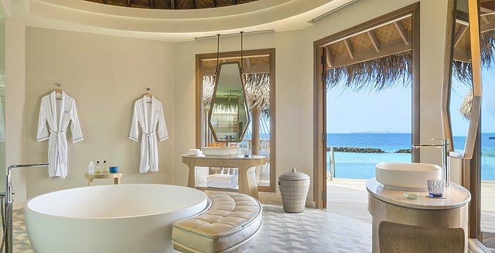Ocean Residence Badezimmer - The Nautilus Maldives