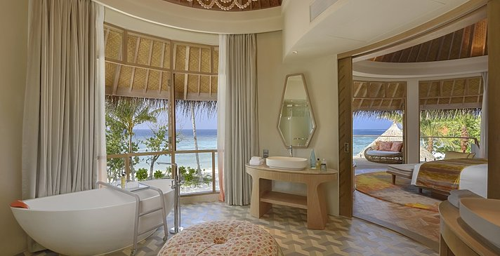 Beach Residence Badezimmer - The Nautilus Maldives