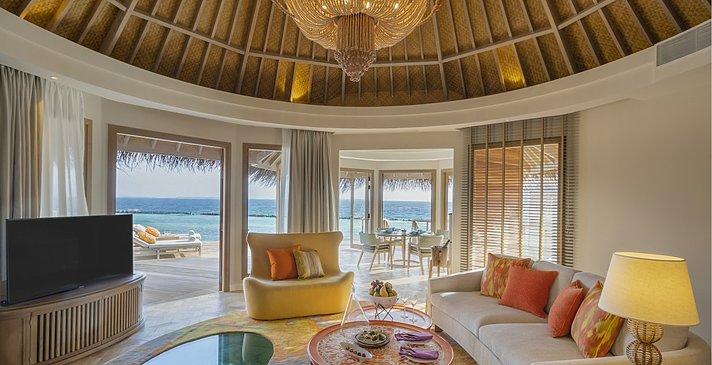 Ocean Residence Wohnzimmer - The Nautilus Maldives