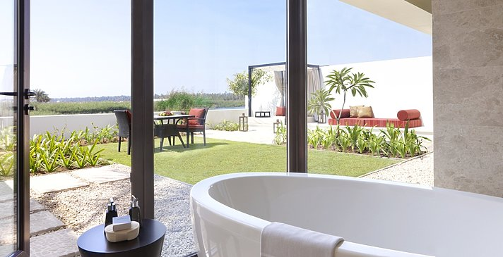 One Bedroom Lagoon View Villa Badezimmer - Al Baleed Resort Salalah by Anantara