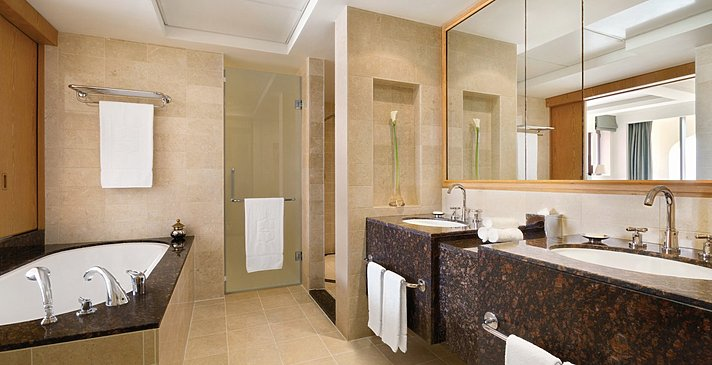 One Bedroom Suite Badezimmer - Shangri-La Barr Al Jissah - Al Bandar